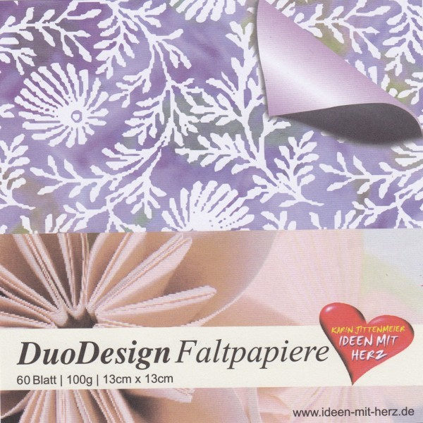 DuoDesign Faltpapier, 13 x 13 cm, 60 Blatt