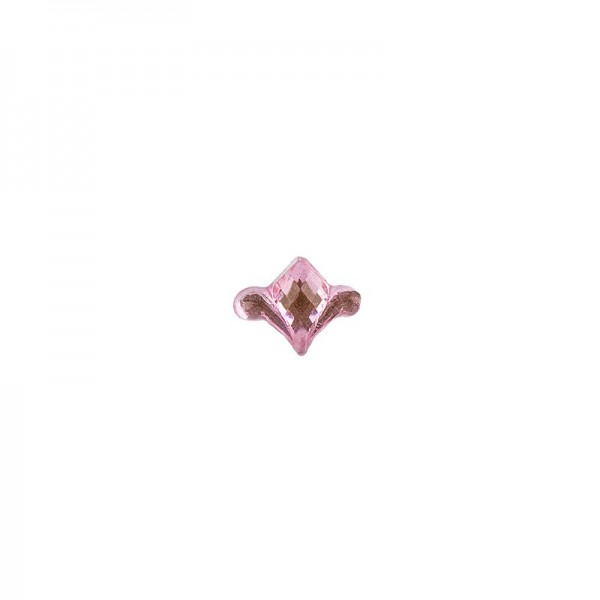 Ornament-Glitzersteine, 50 Stück, Design 8, rosa