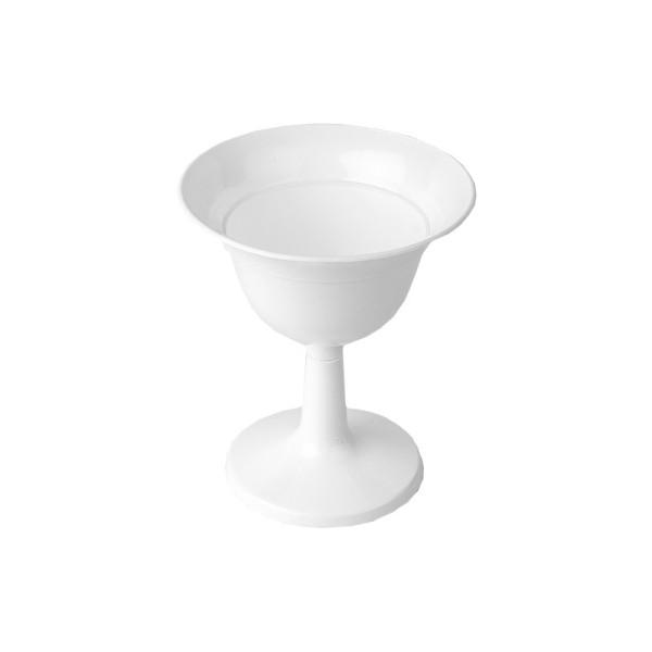 """Blumenspindel """"Mini"""", Ø9,3cm, 10,5cm hoch, Kunststoff, weiß, 2 Stück"""