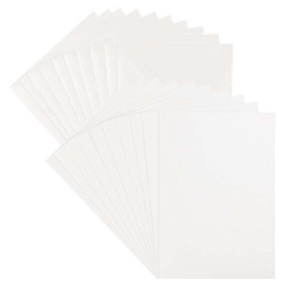 Grußkarten & Umschläge, Perlmutt, Web-Struktur, B6, inkl. passender Umschläge, 20-teilig