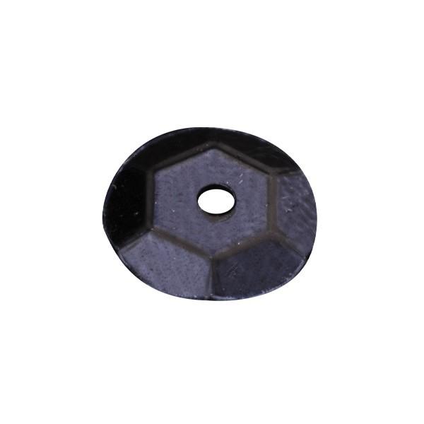 Pailletten, metallic, 15 g, Ø6 mm, schwarz