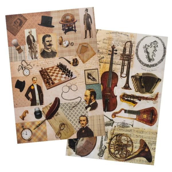 Reispapiere, Nostalgie 15, DIN A4, 2 Designs