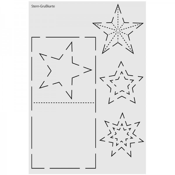 "Design-Schablone Nr. 10 ""Stern-Grußkarte"", DIN A4"