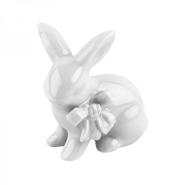 Deko-Hase, Porzellan, Design 3, weiß