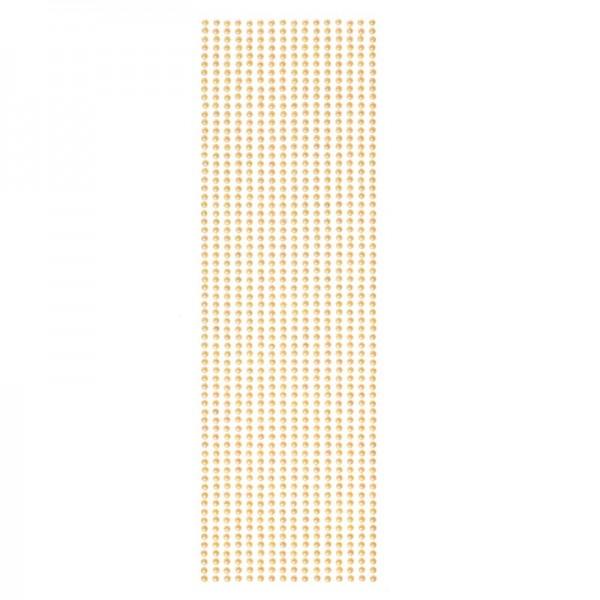 Halbperlen-Bordüren, selbstklebend, Ø4mm, 29cm, 16 Stück, orange-irisierend