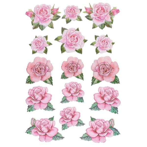 3-D Relief-Sticker, Blumen 5, 21cm x 30cm, verschiedene Größen, selbstklebend