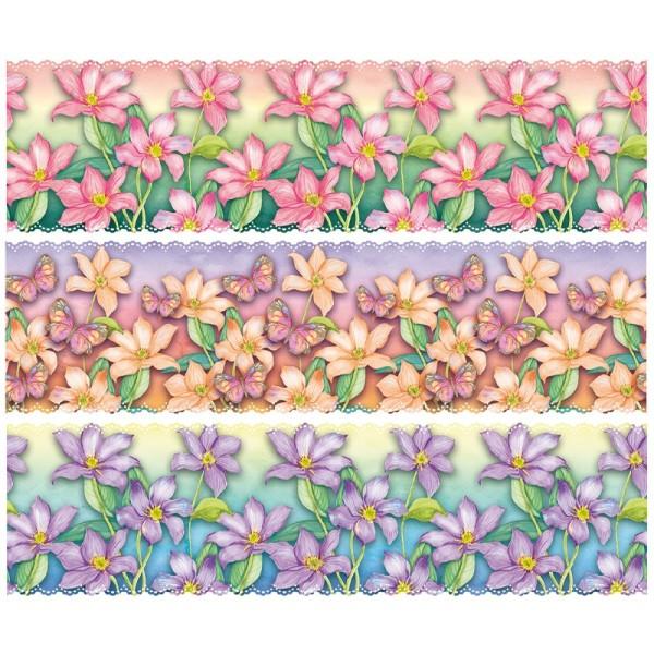 """Zauberfolien """"Blumen im Farbverlauf"""", Schrumpffolien für Ø12cm, 11cm hoch, 6 Stück"""