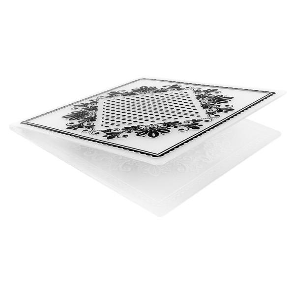 Prägeschablone, Hintergrund Ornamentik 4, 14,7cm x 14,7cm,passend für gängige Präge-& Stanzmaschine