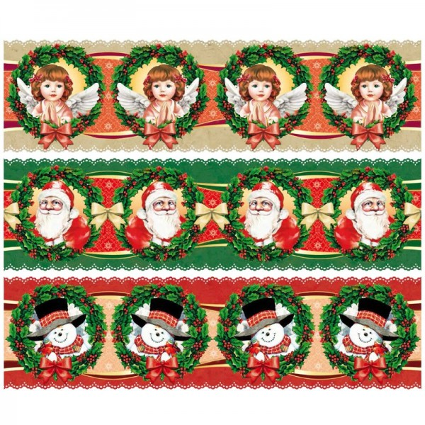 """Zauberfolien """"Weihnachtsfreude"""", Schrumpffolien für Ø12cm, 11cm hoch, 6 Stück"""