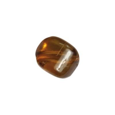 Perle Kissenform, 1cm x 1cm, 10 Stück, bernstein