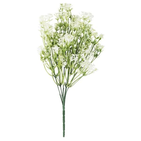 Deko-Busch, Blüten 5, 35cm lang, 6 Stängel, weiße Blüten