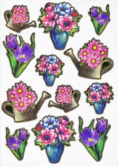 Ultra Gloss Sticker Bogen, Tulpe & Margeriten