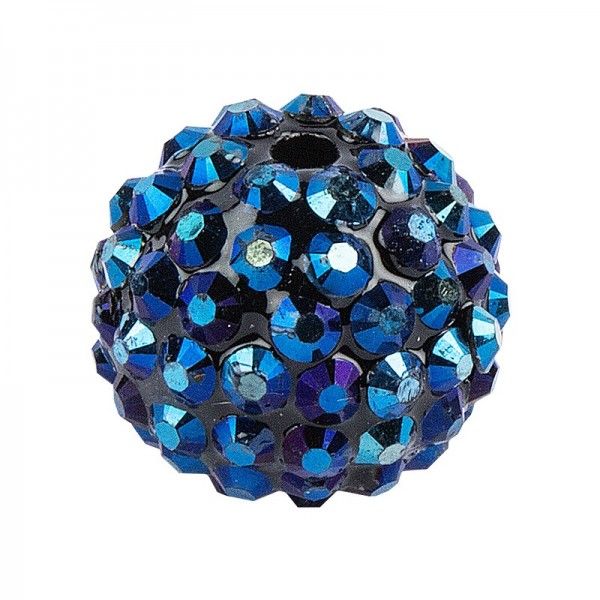 Kristall-Perlen, Ø 10mm, nachtblau, 10 Stück