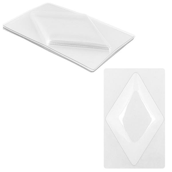 Bolblister, Rauten, 8,5cm x 14cm, transparent, 10 Stück