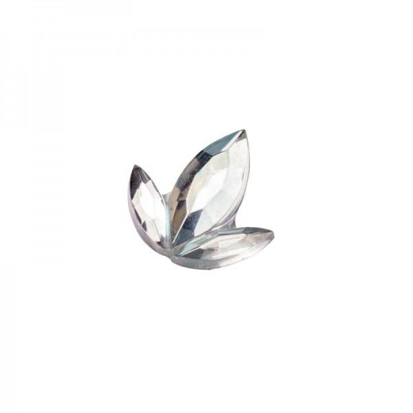 Glitzersteine, Lilien, 9 mm, 50 Stück, klar-irisierend