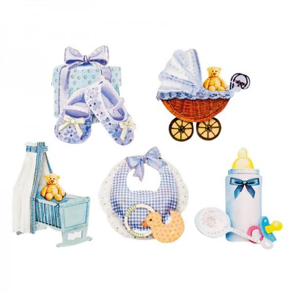 3-D Motive, Baby/Junge, 6-7,5 cm, 10 Motive