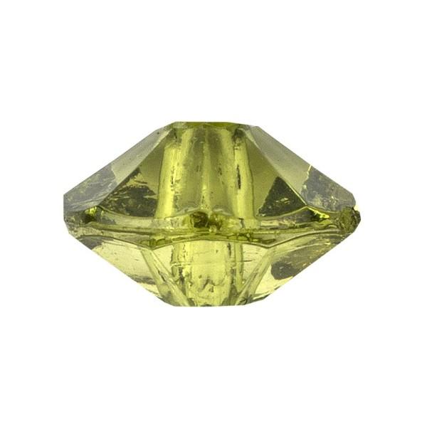 Facetten-Perlen, transparent, Ø6mm, peridot, 100 Stück
