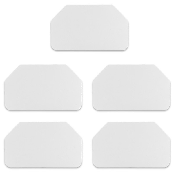 Rakel, 12cm x 7cm, weiß, 5 Stück