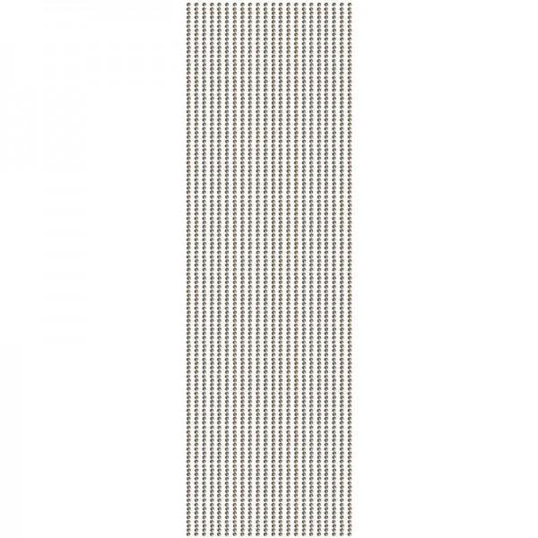 Glitzerstein-Bordüren, selbstklebend, Ø2mm, 29cm, 22 Stk., dunkelbraun
