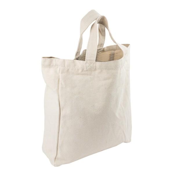 Textil-Tasche, 27cm x 32cm x 10cm, mit kurzen Tragehenkeln, natur