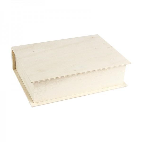 Aufbewahrungsbox aus Holz, Buch, 4cm x 15cm x 11cm