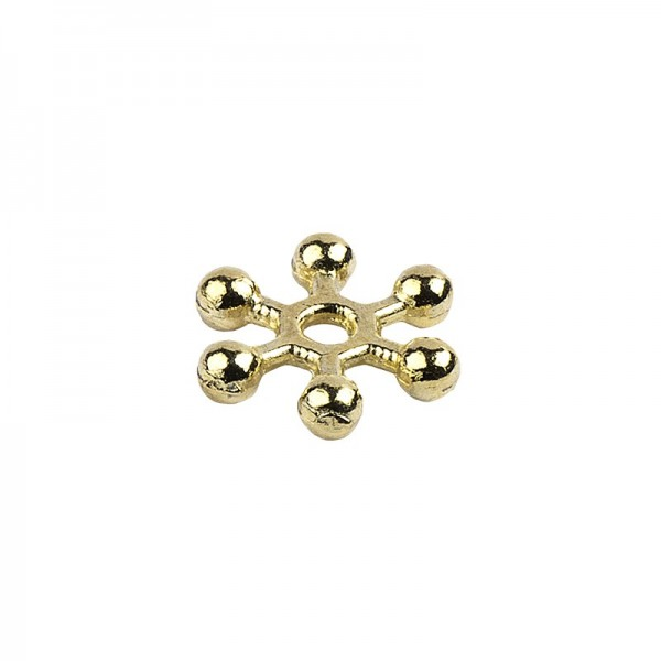 Perlenräder, Ø 6 mm, hellgold, 250 Stück