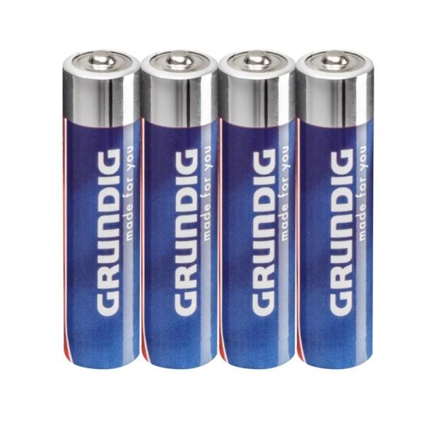 Grundig Alkaline Batterien AAA Micro LR03 1,5 V, 4 Stück
