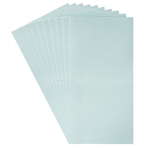 10er Grußkarten-Set, Flecht-Optik, 16x16cm, inkl.Umschläge, mint