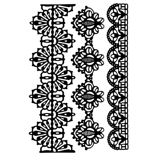 Stanzschablonen, Bordüren 6, 3 Stück