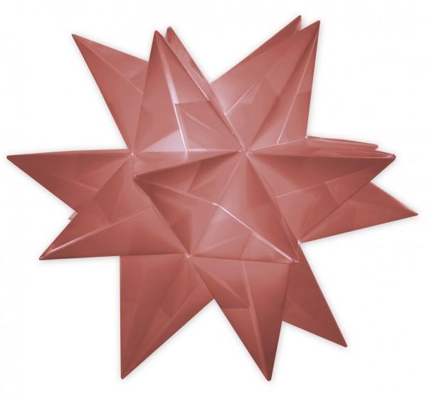 Aurelio Stern Set, transparent, 20cm x 20cm, 33 Blatt, dunkelrot