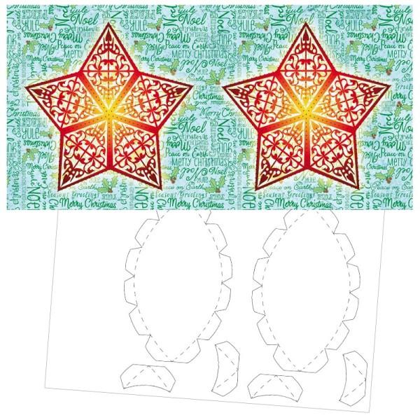 Prickel-Karte, Weihnachtswünsche, inkl. Böden & Ecken, 16cm x 16cm