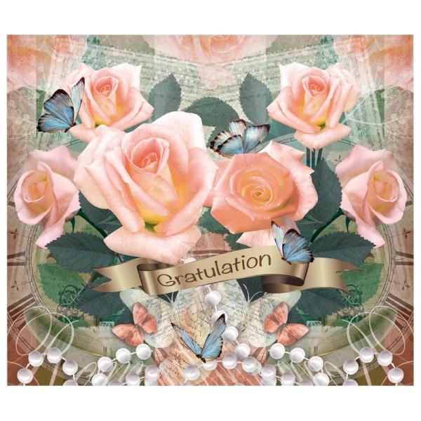 """Zauberfolien """"Gratulation 1"""", Schrumpffolie für Ø 9cm, 24cm hoch, 2 Stück"""