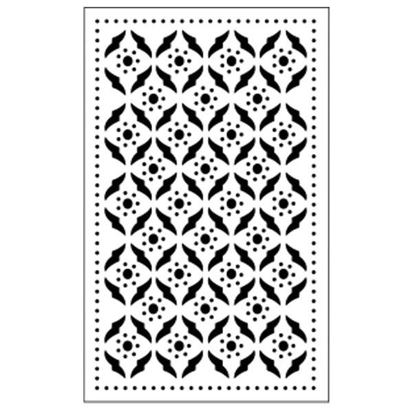 Präge-/Prickelschablone, 14,5 x 9 cm, Design 5