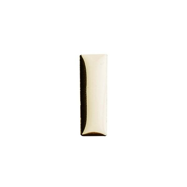 Hot-Fix Rechteck-Nieten zum Aufbügeln, 7mm x 22mm, hellgold, 50 Stück