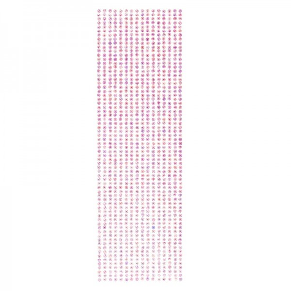 Schmuckstein-Bordüren, selbstklebend, facettiert, irisierend, Ø4mm, 29cm, 16 Stück, violett