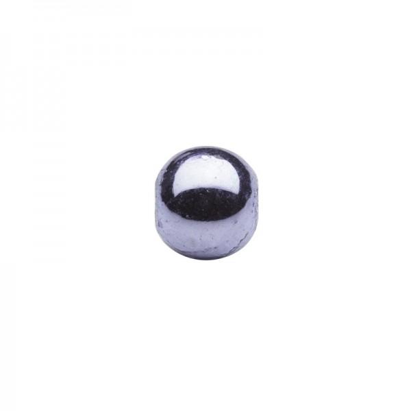 Metallic-Perlen, Ø6 mm, 100 Stück, hellviolett