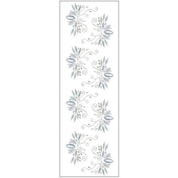 Kristallkunst, Lotus-Ornament, 10cm x 30cm, selbstklebend, klar irisierend