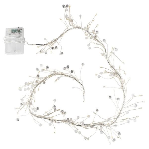 LED-Bündel-Drahtlichterkette, Kristall-Tropfen, transp., 80 LED-Lämpchen in Warmweiß, inkl. Timer