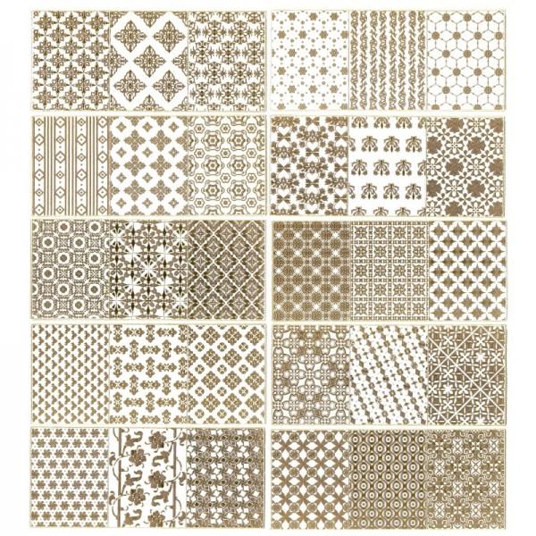 Gravur-Sticker, Hintergrund-Ornamentik, 10 Bogen