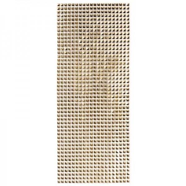 Schmuck-Netz, selbstklebend, 12 x 30 cm, gold/Quadrate