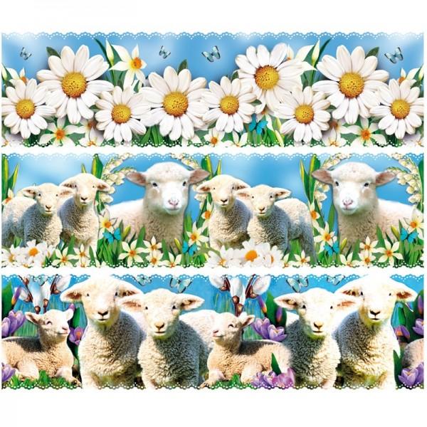 """Zauberfolien """"Schafe"""", Schrumpffolien für Ø10cm, 9 cm hoch, 6 Stück"""