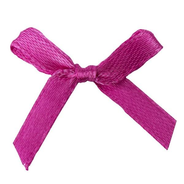 Schleifen, Satin, Bandbreite 7mm, 50 Stück, pink