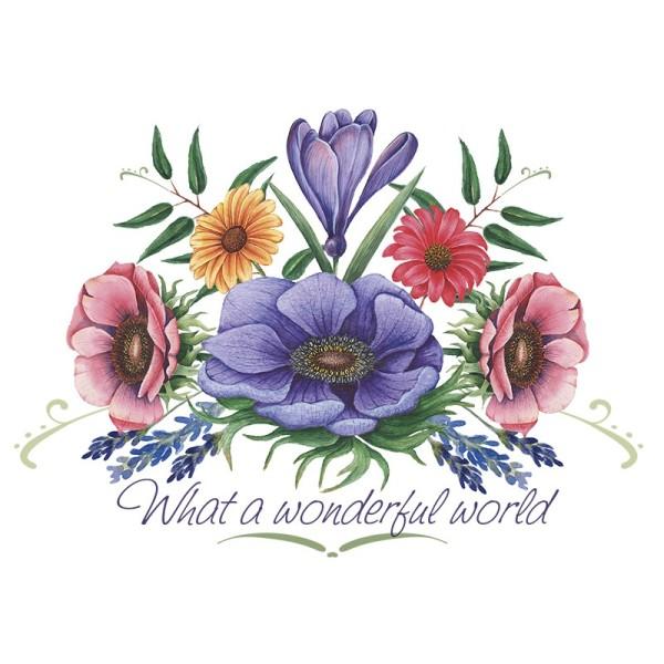 Color Bügeltransfers, DIN A4, Blumen 15
