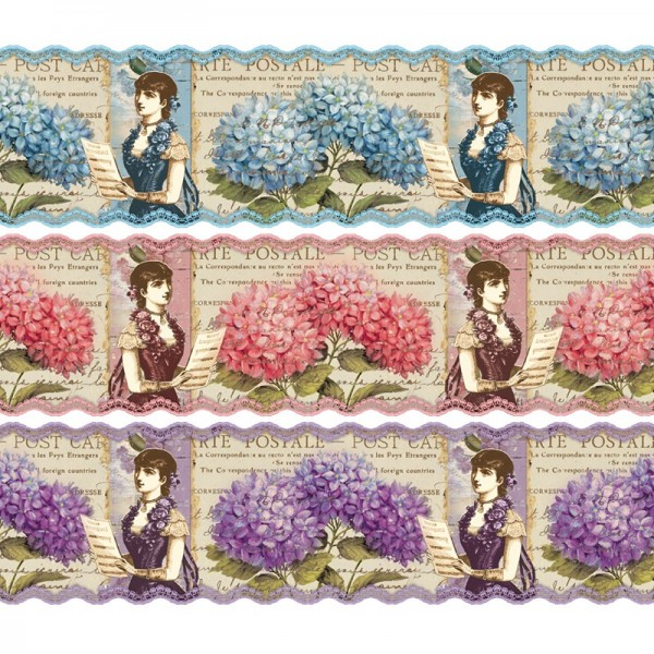"""Zauberfolien """"Hortensien"""", Schrumpffolie für Ø10cm, 9cm hoch, 6 Stück"""