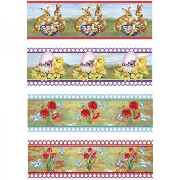 """Ei-Zauberfolien """"Hasen & Küken"""", Schrumpffolien, 4 Designs, 12er Set"""