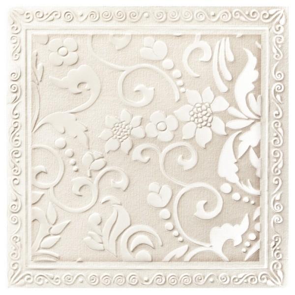 Exquisit-Grußkarten mit Top-Prägung, 15 x 15 cm, 10 Stück, Blütendesign