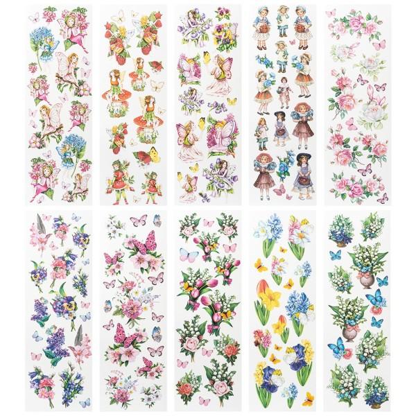 Aqua-Transfermotive Elfen, Kinder & Floristik, 10cm x 30cm, farbig, 10 Bogen