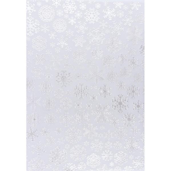 Transparentpapiere, Nova Noblesse 5, mit Top-Prägung & Perlmuttlack, DIN A4, 5 Bogen, weiß