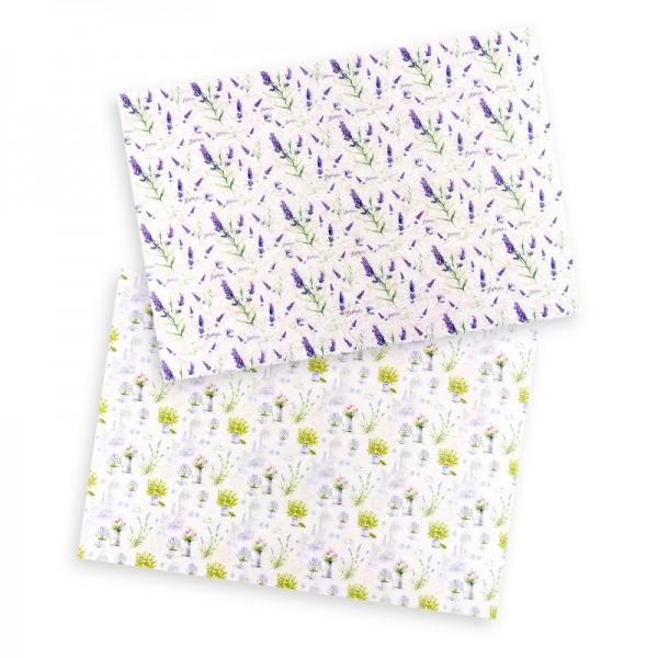 """Reispapiere """"Blüten 1"""", DIN A4, 2 Designs"""
