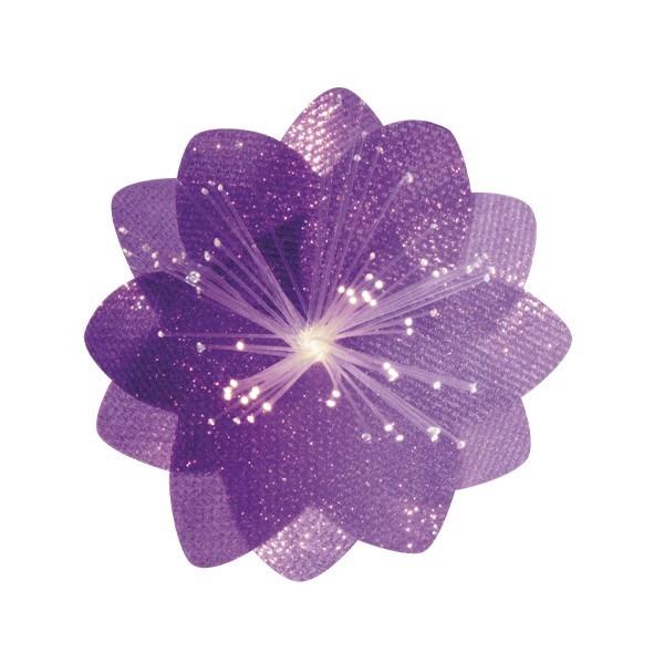 Lichteffekt-Blume, Diamant-Effekt, Ø6cm, violett, 10er Set